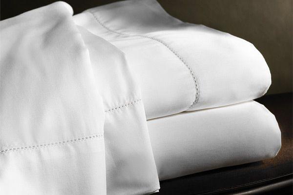 Nothing like crisp white linen sheets.