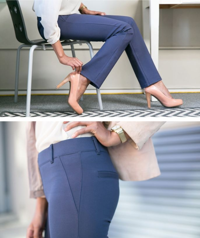 Dress Pant Yoga Pants: sophisticated styling & soft, stretchy performance knit.
