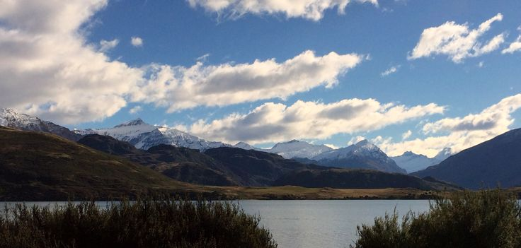 Looking over Lake Wanaka towards the mountains of the Aspiring National Park, South Island, New Zealand