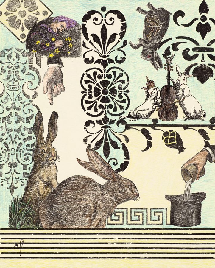 """Magic Rabbit"" available in cards and limited edition prints, Chardon's Cards Etc., Chardon Labrie"