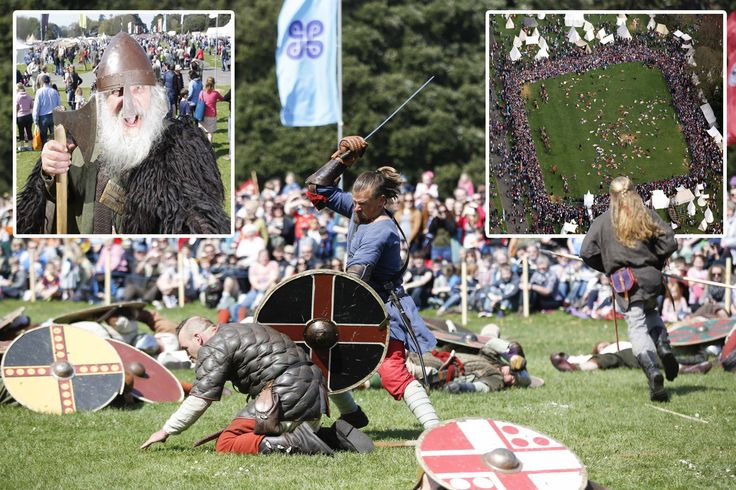Clontarf 2014.  Re-enactment of the battle of Clontarf 1014.