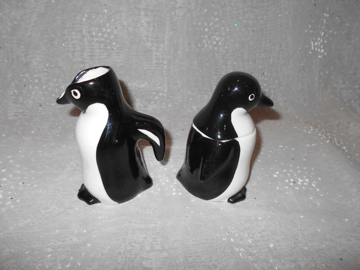 "Collect creamer, sugar bowls? ""ENESCO's"" little penguin creamer sugar bowl w/lid #ENESCO"