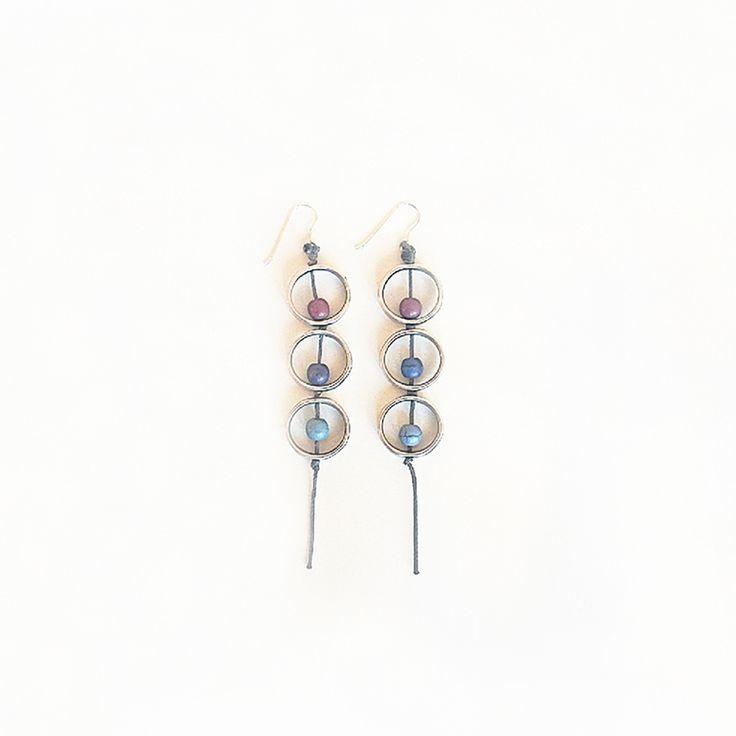 Μακριά σκουλαρίκια με χαολίτες