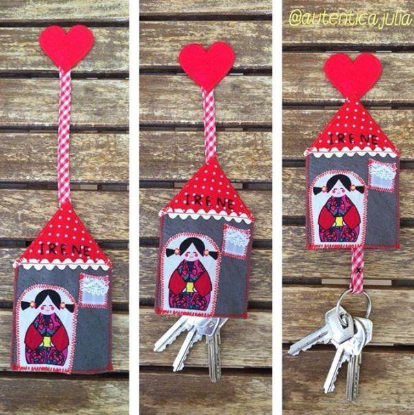 ❤️NOVEDAD❤️ Guardallaves personalizado en forma de casita... Muy práctico para evitar que se rayen las demás cosas que llevas en tu bolso... 10€