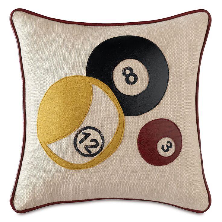 Man Cave Pillows : Man cave billiards throw pillow caves pillows and