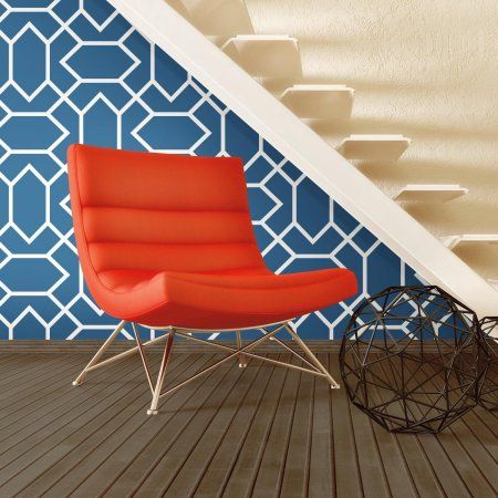 Roommates Blue Modern Geometric Peel & Stick Wallpaper