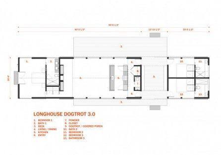 Best 25 dog trot house ideas on pinterest dog house for Dogtrot house plans modern