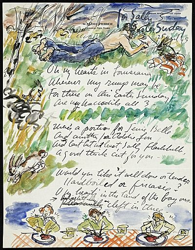 More Than Words: Illustrated Letters from the Smithsonian's Archives of American Art - Exhibitions   Archives of American Art, Smithsonian Institution