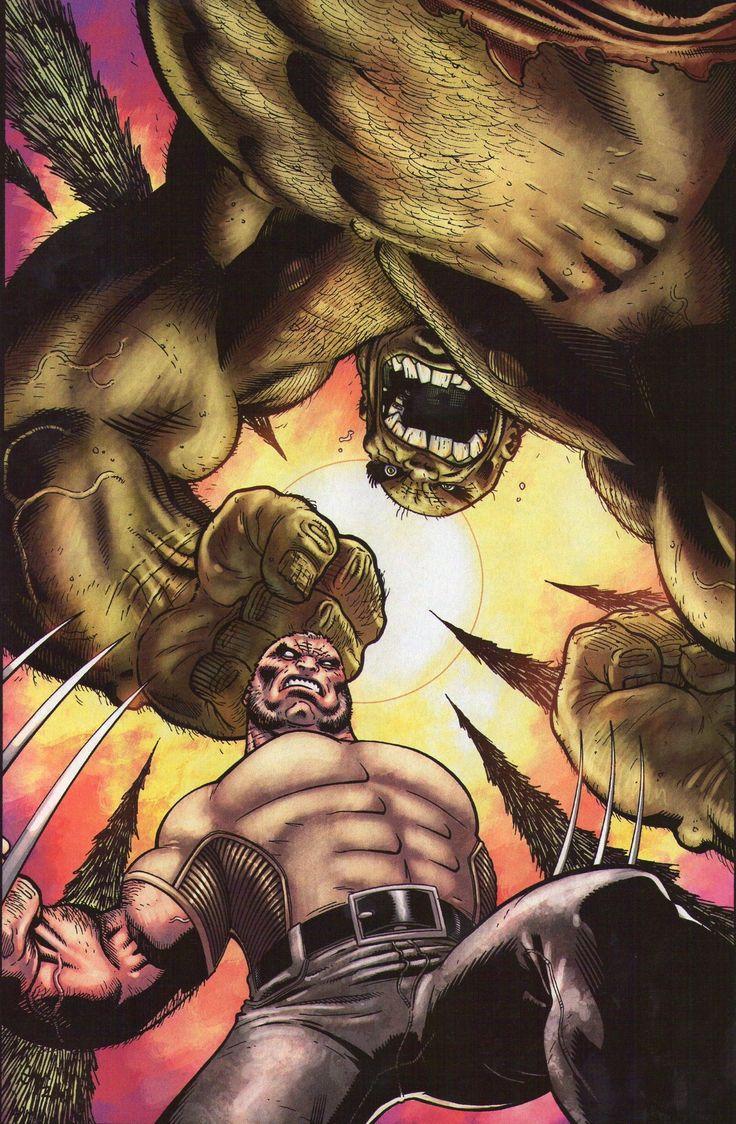 #Hulk #Fan #Art. (Wolverine Old Man Logan: Giant Size Hulk Vol.1 #1 Variant Cover) By: Ed McGuinness.