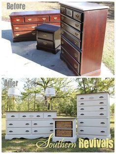 old cherry wood dresser to a refreshing color - Google Search