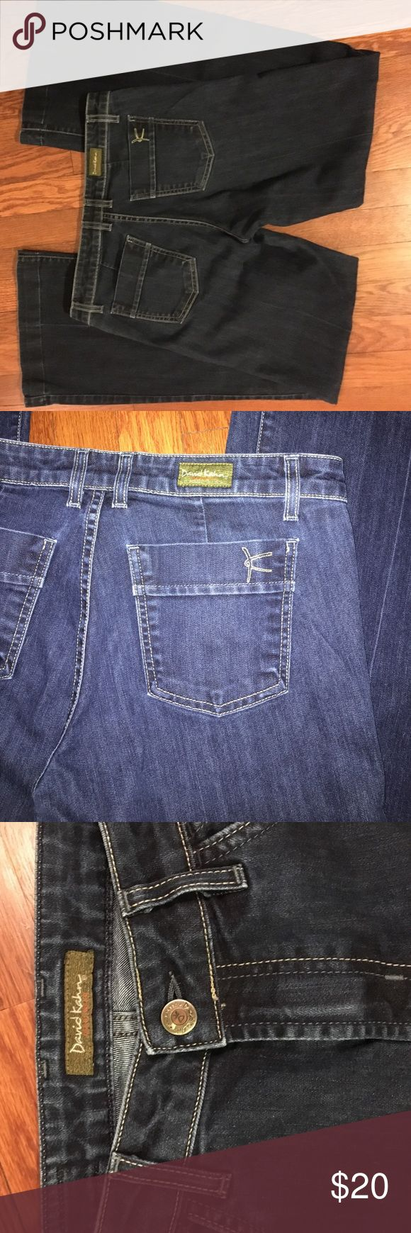Women's dark wash jeans Women's dark wash jeans. Great fit. David Kahn Jeans Flare & Wide Leg