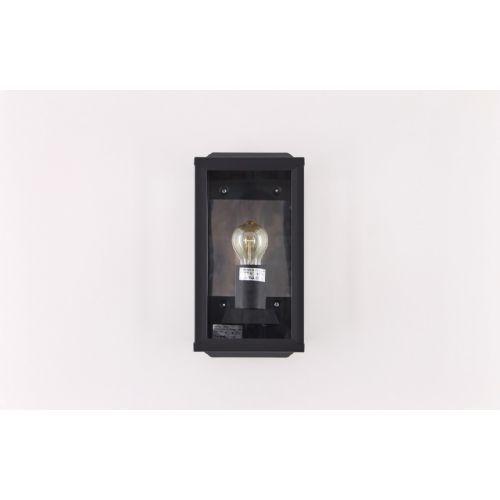 Buiten wandlamp staand zwart