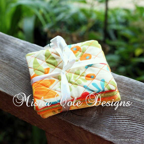 Quilted Coasters Set of 4 Fall Moda Fabric by mishacoledesigns, $12.00: Quilts Coasters, Coasters Sets, Coaster Set, Quilted Coasters