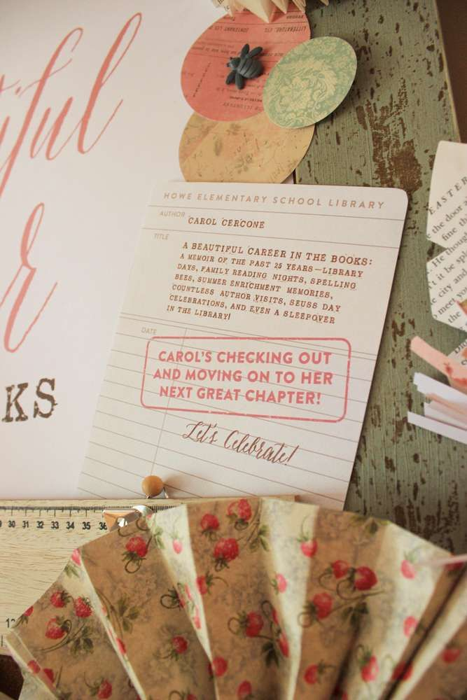 Vintage Book Farewell Party Party Ideas | Photo 1 of 48