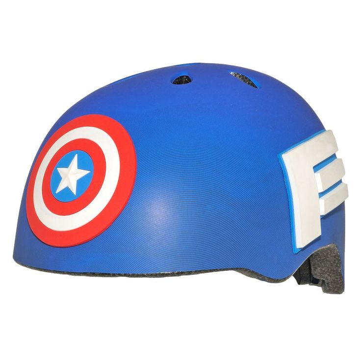 Youth C Preme Marvel Captain America Shield Bike Helmet, Blue