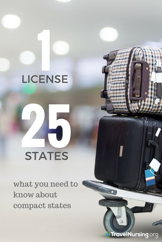 Traveling has never been easier. 1 License, 25 States. Compact states for travel nurses. #nursing
