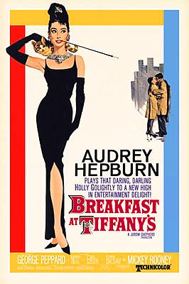 Breakfast At Tiffany's Movie Poster 24x36 inches Holly Golightly Audrey Hepburn (Click to Buy)