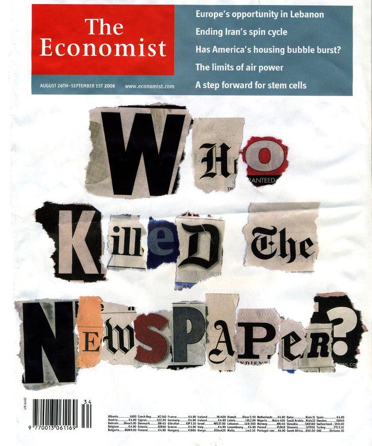 Couverture de The Economist sur la crise de la presse