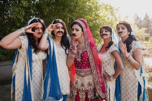 Great bridesmaid photo, Indian bridesmaid photo, creative photos for wedding