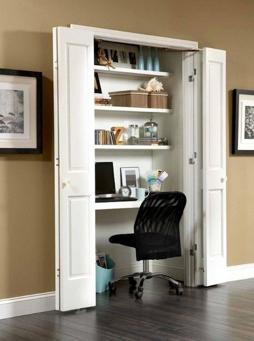 3 Easy & Creative Steps to a DIY Closet Office