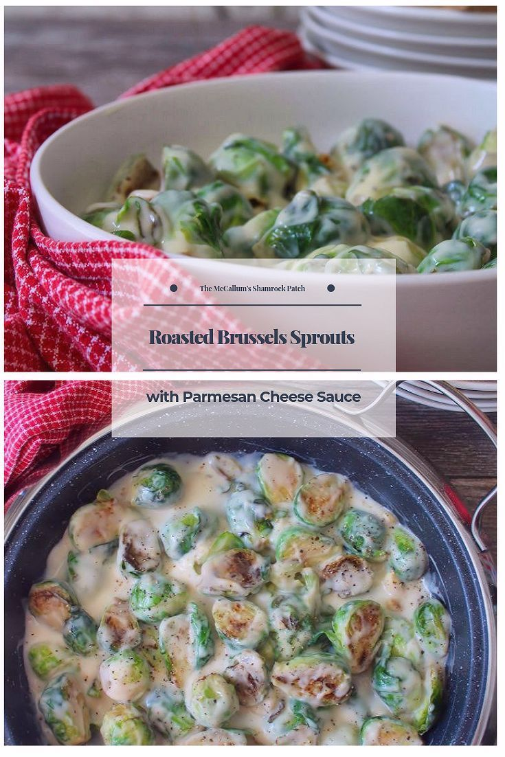 Roasted Brussels Sprouts with Parmesan Cheese Sauce is a wonderfully cheesy and …   – Favorite Blogger Recipes