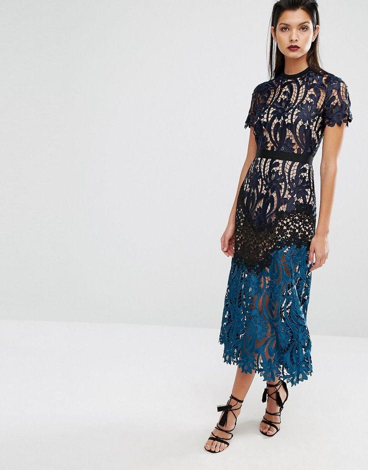 Image 4 of Self Portrait Prairie Midi Dress