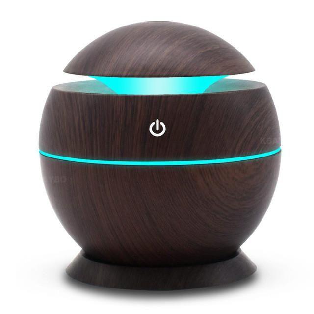 USB Aroma Humidifier Aromatherapy Wood Grain