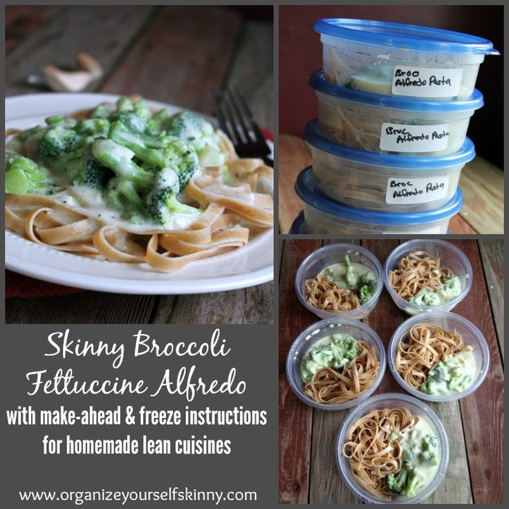 Skinny Broccoli Fettuccine Alfredo Make Ahead Homemade Lean Cuisine 248 calories and 6 weight watchers points plus