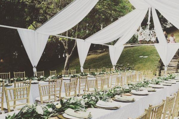 Tent Frame Open Air Draping New Years Eve Weddings Table