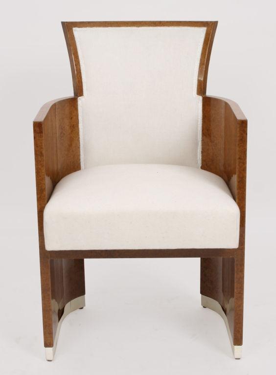 French Art Deco Period Amboyna Tub Chair