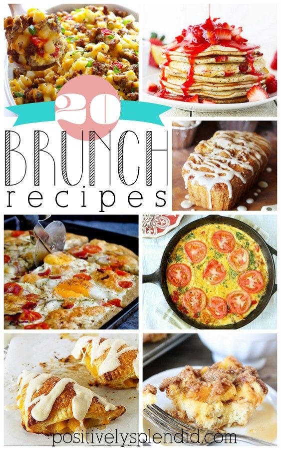 So many delicious ideas in this round-up of brunch recipes!