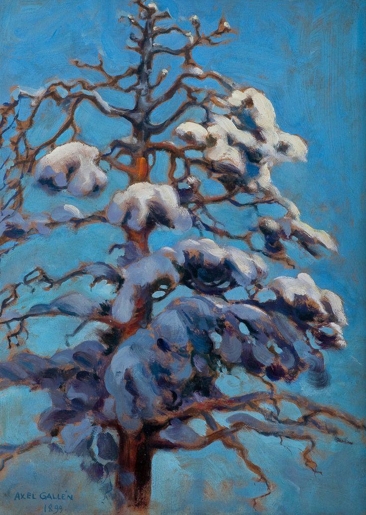 Axel Gallen-Kallela: Snowy Pine-Tree (1899)