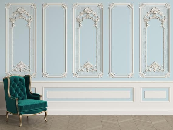 3d Classic Interior Wall With Cornice And Moldings Mural Removable Wallpaper Peel Stick Wall Mural Wall Art Wall Sticker Jess Art 57 Classic Interior Interior Walls Classic Interior Design