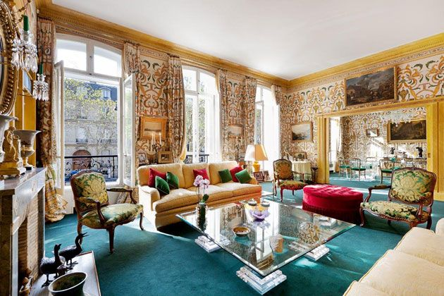 This four-story mansion near the Arc de Triomphe features high-ceilinged reception and dining rooms, as well as an interior courtyard. Price: €10.92 million ($14.1 million)