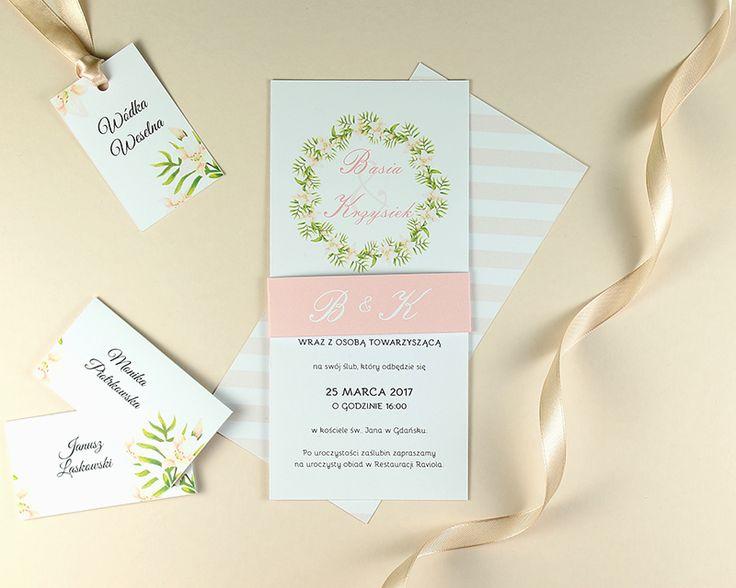 Pracownia Celegarth   Botanic   Dream Dream Dream     #zaproszenia #invitations #zaproszeniaslubne #weddinginvitations #kwiaty #flowers #wianek #wreath #celegarth #slub #wedding #papeteria #stationery #papeteriaslubna #weddingstationery #design #slubnydesign #weddingdesign