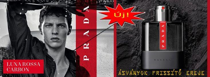 Prada Luna Rossa Carbon férfi parfüm  Ez a forradalmi, férfias illat a szikla erejét, valamint a víz és a levegő frissességét hordozza magában, melyet a levendula ércessége hangsúlyoz ki igazán.  http://www.parfumdivat.hu/parfumdivathazak/prada-luna-rossa-carbon-ferfi-parfum.html