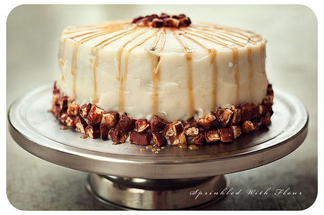 Chocolate Snickers Layer Cake by Amber (Sprinkled With Flour), via Flickr