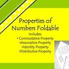 This file includes a square foldable that focuses on properties of numbers: Commutative Property, Associative Property, Identity Property and Distr...
