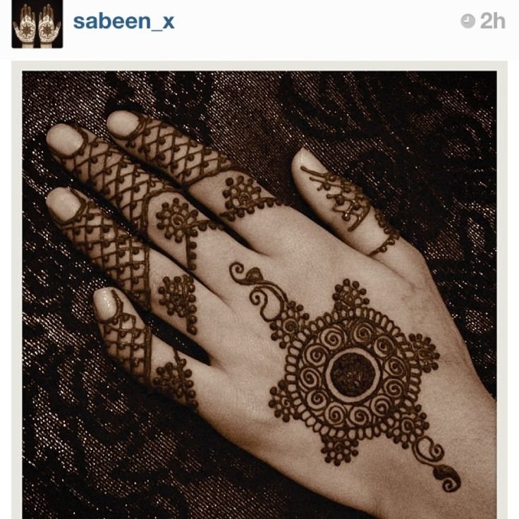 Simple enough henna.