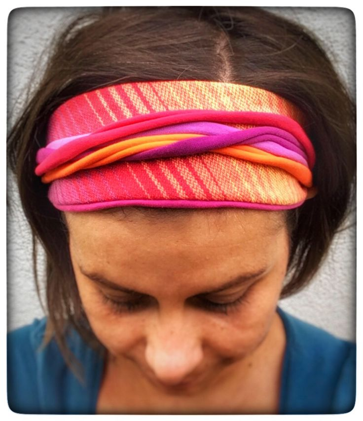 A personal favorite from my Etsy shop https://www.etsy.com/Borgica/529905030/girasol-tulipani-woven-wrap-scrap #wrapscrap #recycle #upcycle #hairband #babywearing