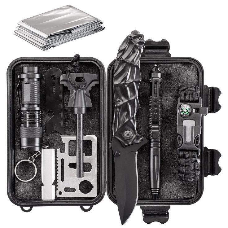 Emergency Survival Kit 10 in 1 – Outdoor Survival Gear – Best Offer
