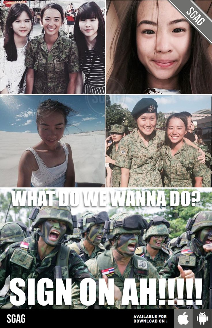 OMG IS SHE THE PRETTIEST SOLDIER IN SINGAPORE OR WHAT???