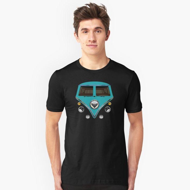 kawaii Blue teal love bug mini bus Unisex T-Shirt #tshirt #tee #clothing #funny #cute #fun #lol #veedub #golf #kombi #minivan #minibus #beetle #bus #camper #retro #splitwindow #van #vintage #bumper #car #lovecar #offroad #campercar #microbus #pickup #transporter