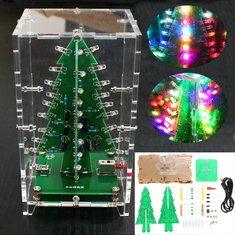 Geekcreit Рождественская елка RGB Colorful LED Вспышка Набор С прозрачной крышкой DIY Электронная Набор