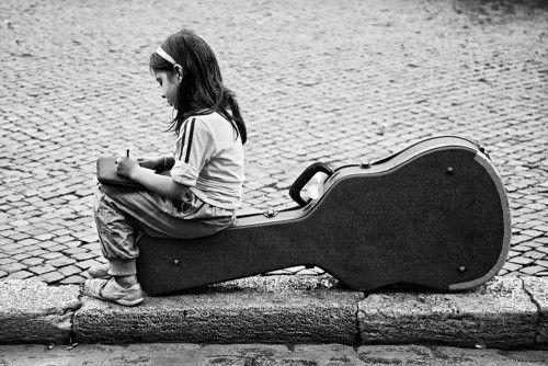 Little musician by Antonio Perrone