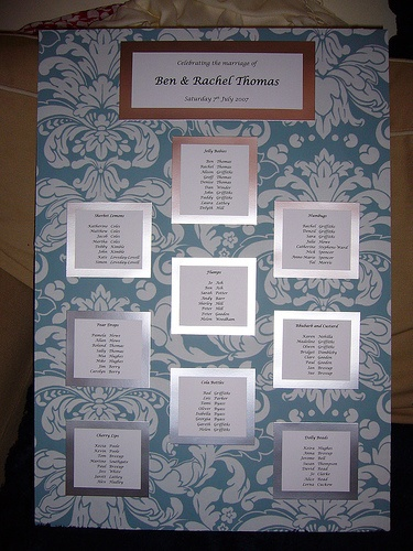 My table plan by HaloHoney, via Flickr. @weddingvillage #weddings #weddingvillage