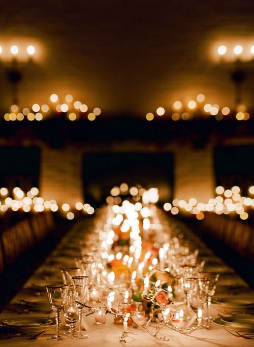 candle light dinner reception