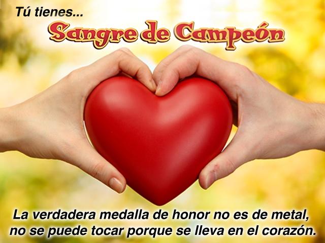 """""""La verdadera medalla de honor no es de metal, no se puede tocar porque se lleva en el corazón."""" Carlos Cuauhtémoc Sánchez"""