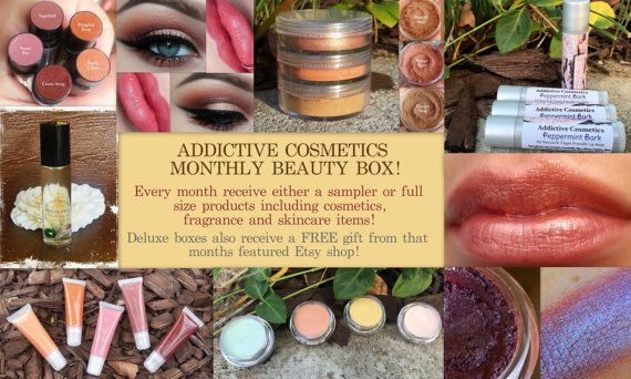 MONTHLY BEAUTY BOX by Addictive Cosmetics with Free Shipping- Great gift idea, Gifts for Her, Christmas Gift, Gift Set, Vegan Friendly