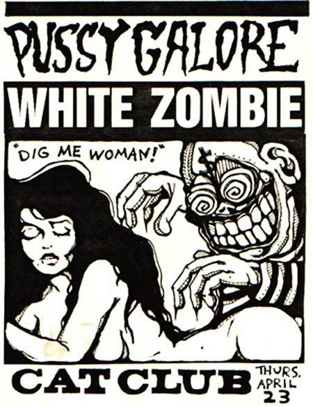 White Zombie - In high school I put this image on a shirt.